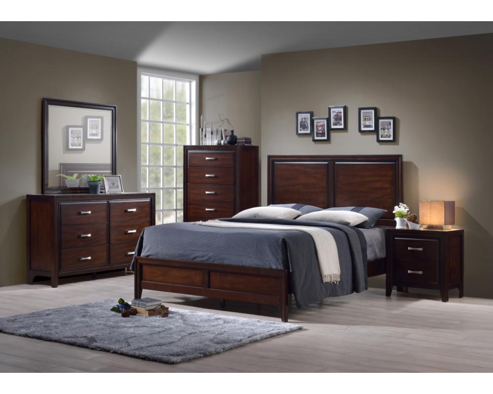 Agathis King Bed, Dresser, Mirror, & Nightstand