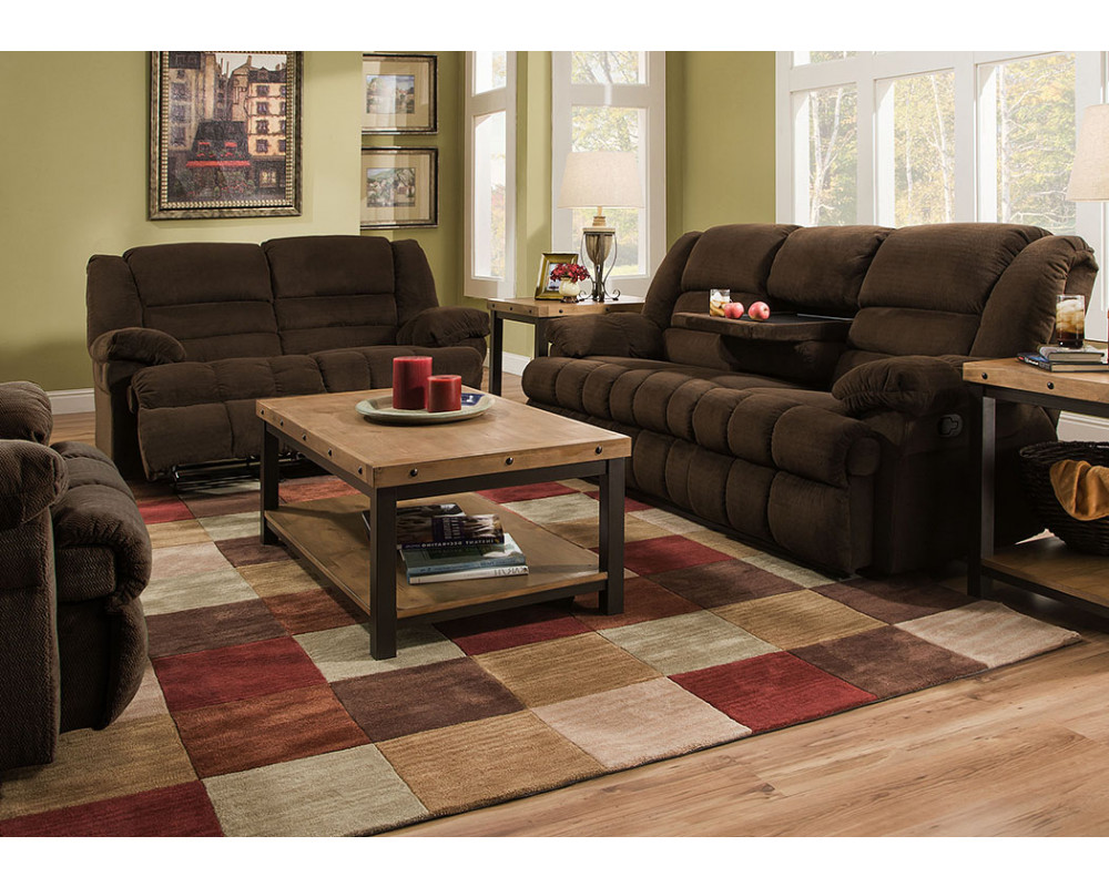 50412BR Dynasty Chocolate Reclining Sofa and Loveseat