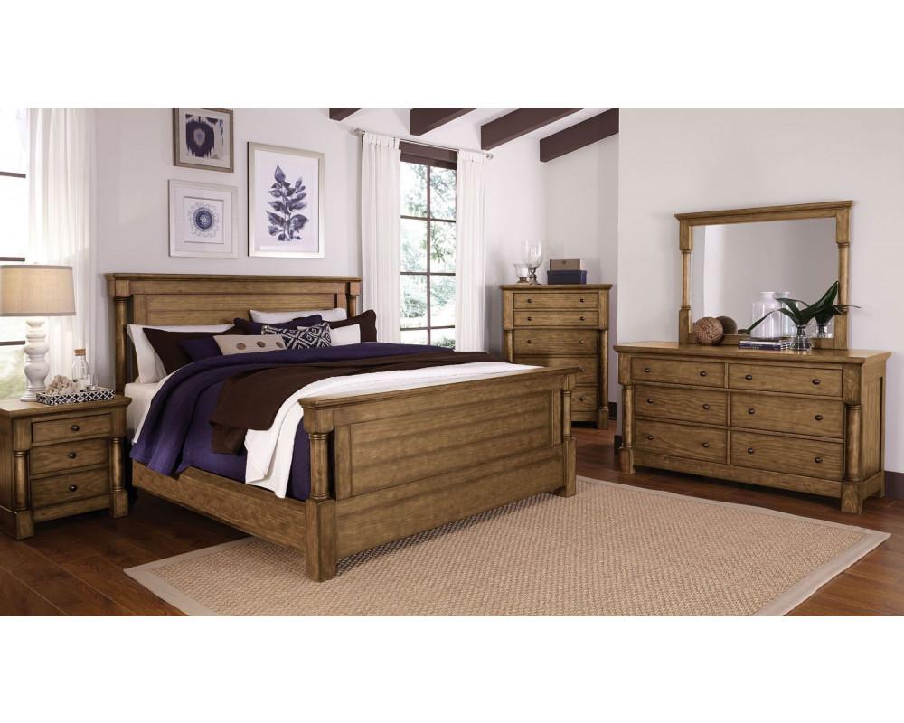 Augusta Court King Bed, Dresser, Mirror, & Nightstand