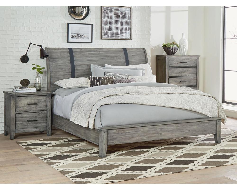 Nelson Grey Queen Bed, Dresser, Mirror, & Nightstand