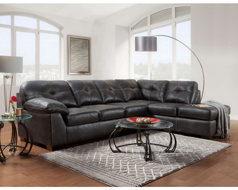 Nevada Black Sectional