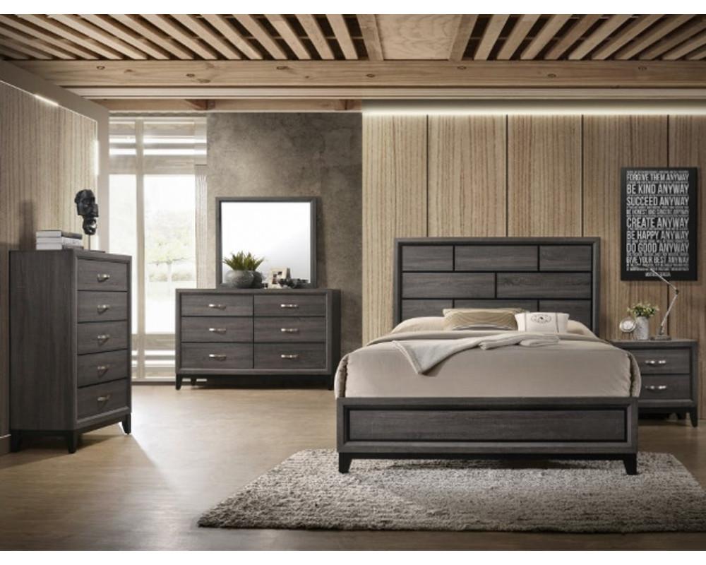 Akerson Queen Bed, Dresser, Mirror & Nightstand