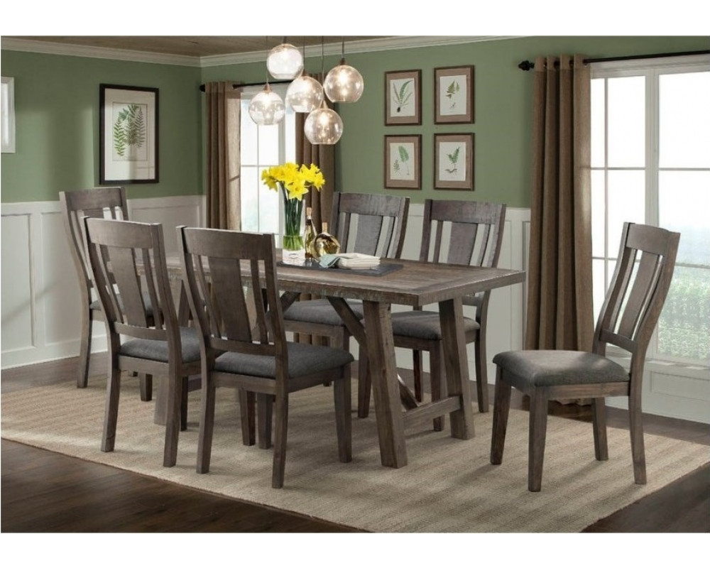 Cash Counter Height Dining Table, 4 Barstools, & Bench