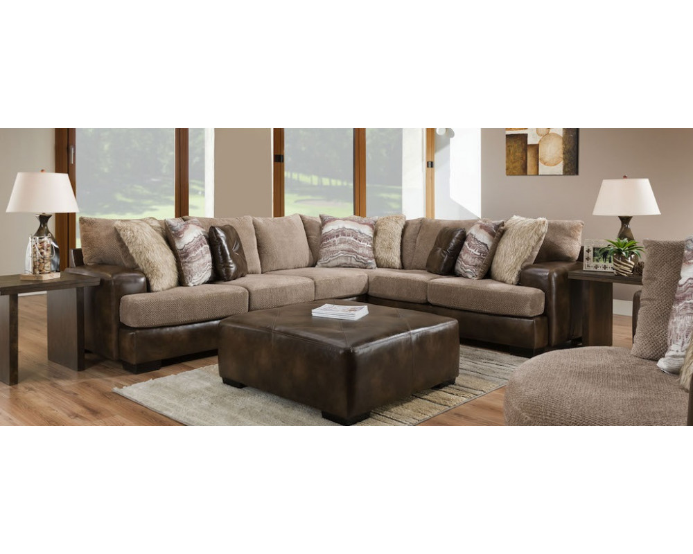 Overstock Furniture Wesley Toast Big Sectional Sectionals Living