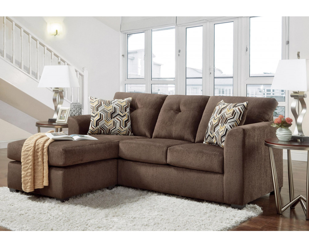 Kelly Chocolate Sofa Chaise