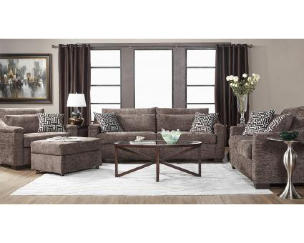 Churchill Espresso Sofa and Loveseat
