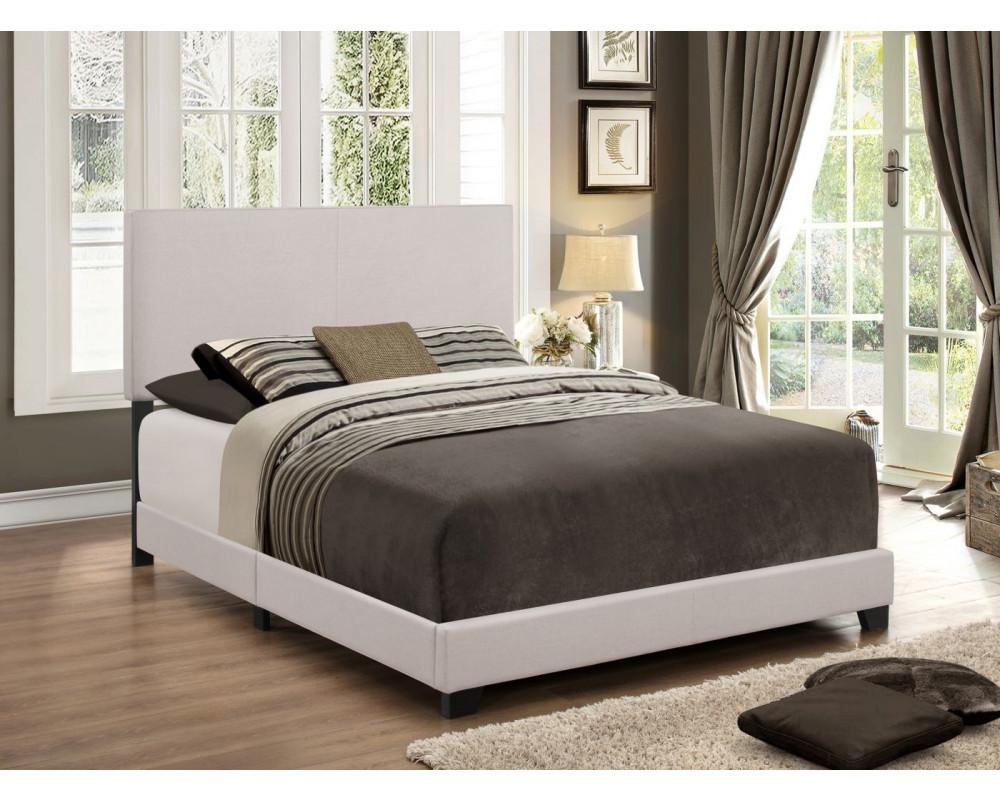 Erin Khaki Velvet Queen Bed