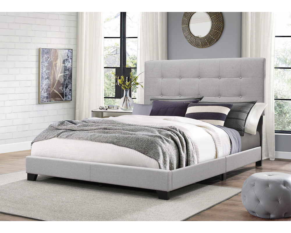 Florence Grey Tufted Twin Bed