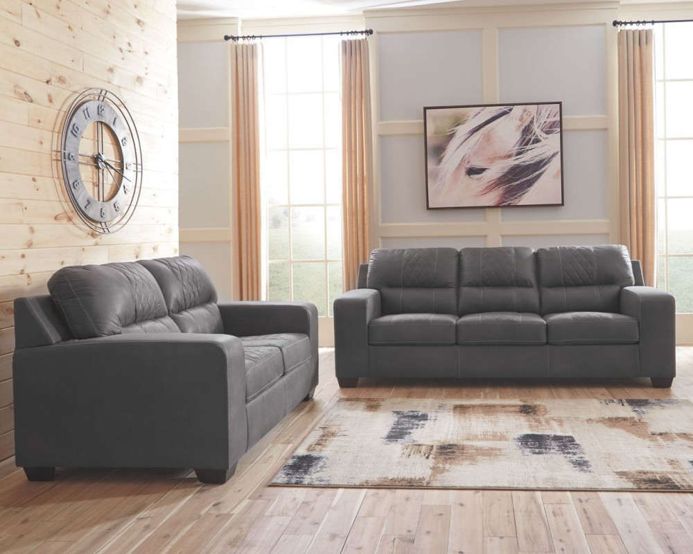Narzole Dark Gray Sofa & Loveseat