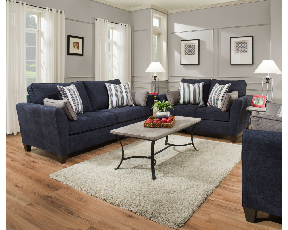 Bennington Navy Sofa & Loveseat