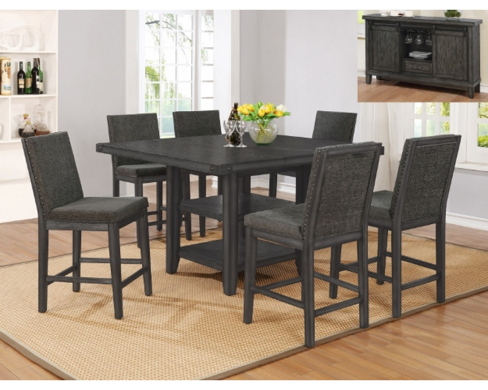 Overstock Furniture 2735 Matheny Counter Height Table 6 Chairs