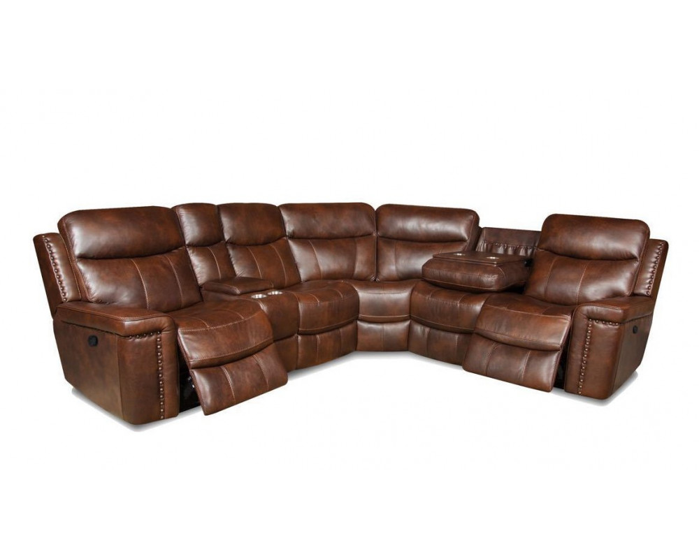 Overstock Furniture Softie Driftwood Sectional