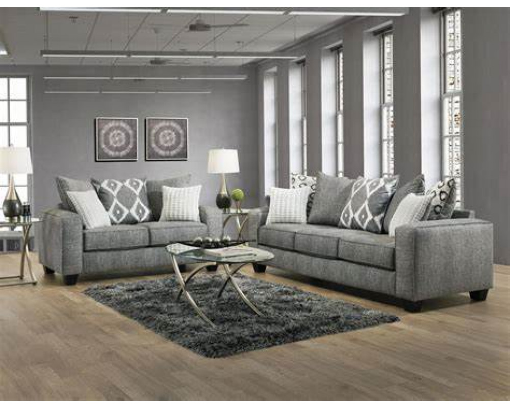 Stonewash Black Sofa & Loveseat