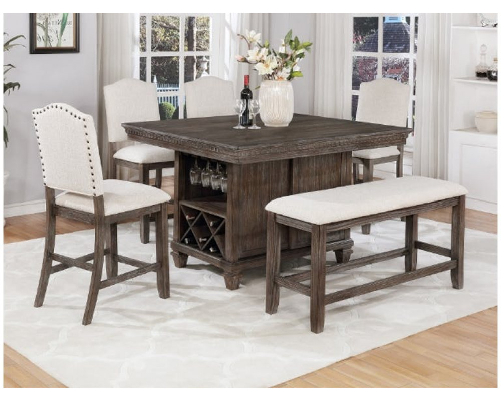 Overstock Furniture Regent Counter Height Table 4 Chairs