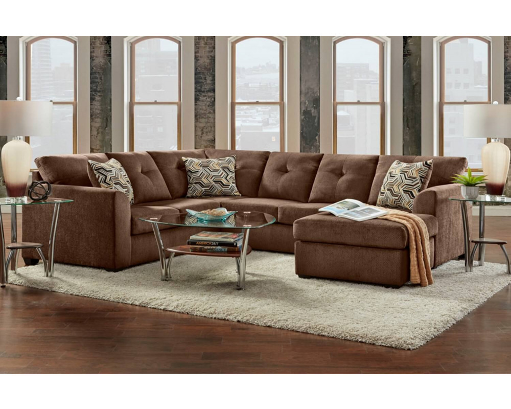 Kelly Chocolate Sofa Chaise