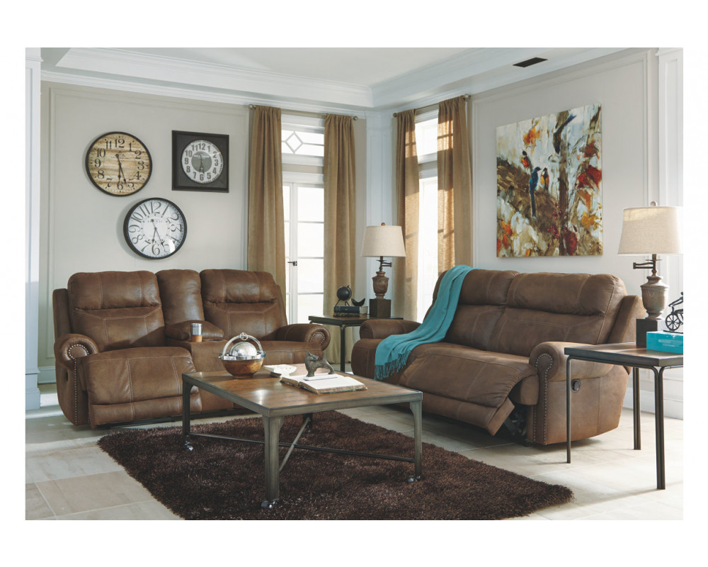 Austere Brown Sofa & Loveseat
