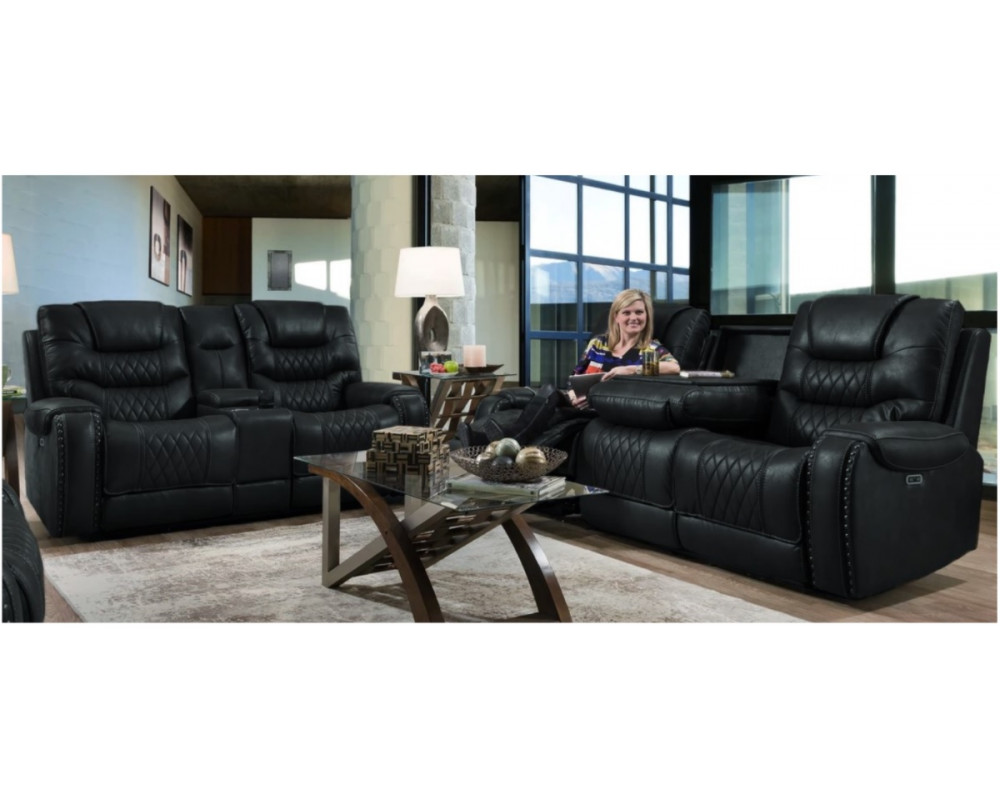 Desert Eclipse Reclining Power Motion Sofa & Loveseat