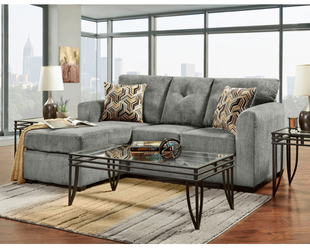 Stonewall Grey Sofa Chaise