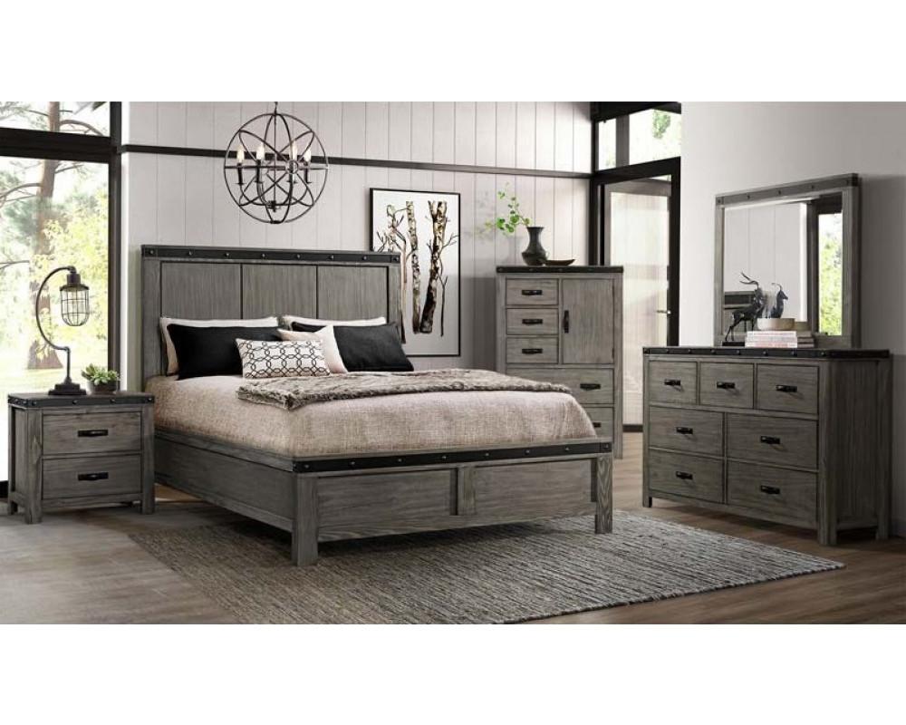 Wade King Bed, Dresser, Mirror, Nightstand