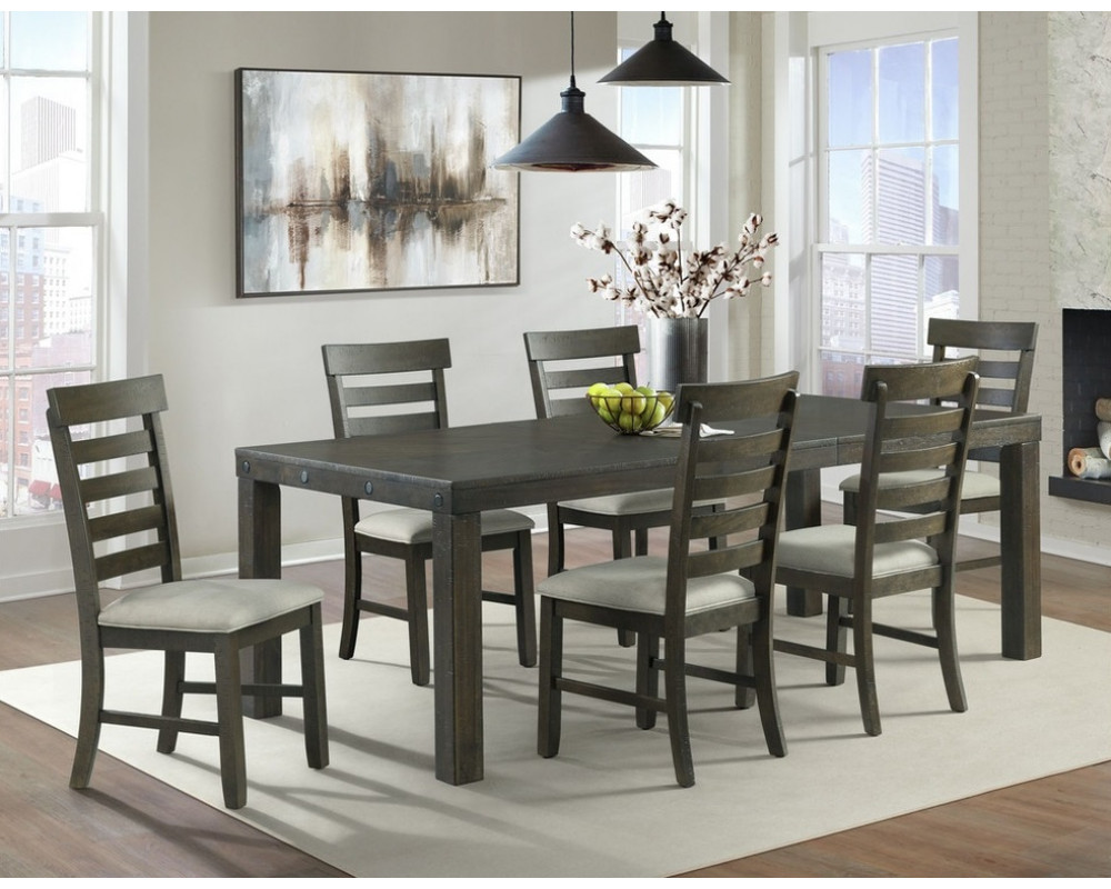 Colorado Dining Table, 4 Chairs, & Bench