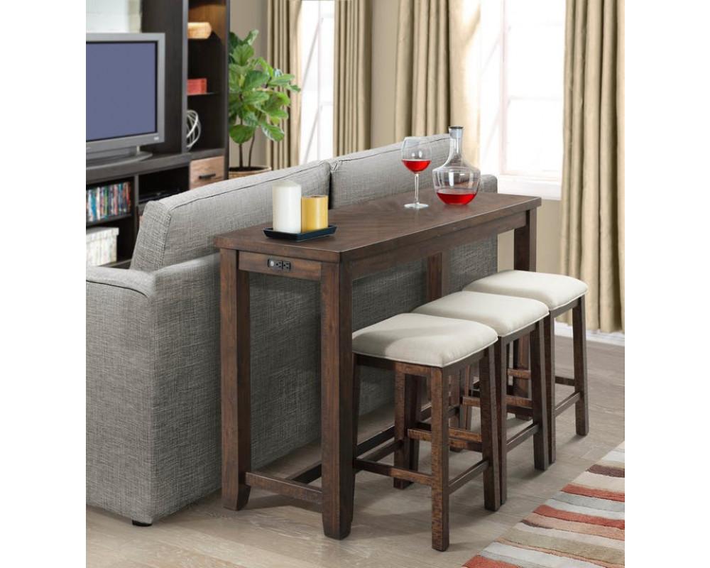 Jax Bar Table & 3 Barstools