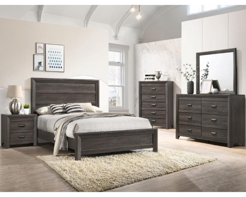 Adalaide King Bed, Dresser, Mirror, & Nightstand