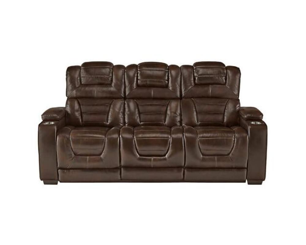 Manhattan Brown Power Sofa & Loveseat