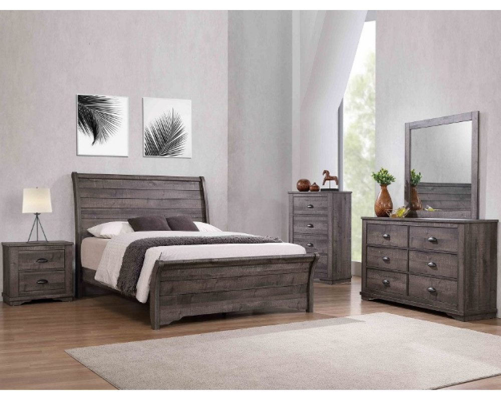 Coralee Queen Bed, Dresser, Mirror, & Nightstand