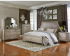 Windsor Silver Queen Bed, Dresser, Mirror, & Nightstand