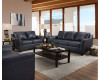 Leather Soft Touch Blue Shale Sofa & Loveseat