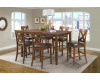 Alex Espresso Counter Height Dining Table & 6 Chairs