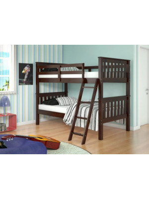 Twin-Twin Bunk Bed - Cappuccino