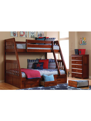 Twin-Full Bunkbed - Merlot