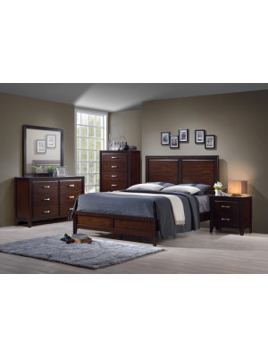 Agathis Queen Bed, Dresser, Mirror, & Nightstand