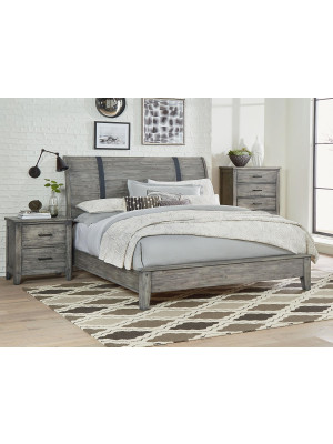 Nelson Grey King Bed, Dresser, Mirror, & Nightstand