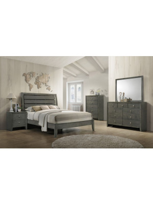 Evan King Bed, Dresser, Mirror, & Nightstand