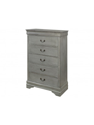 Louis Philip Grey 5 Drawer Chest