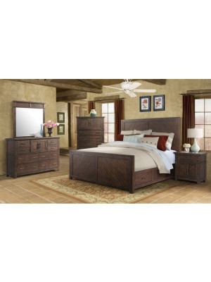 Jax King Bed, Dresser, Mirror, Nightstand