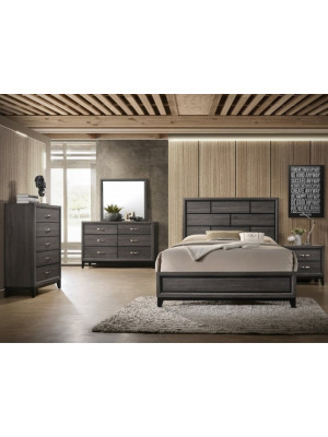 Akerson Queen Bed, Dresser, Mirror & Nightstand