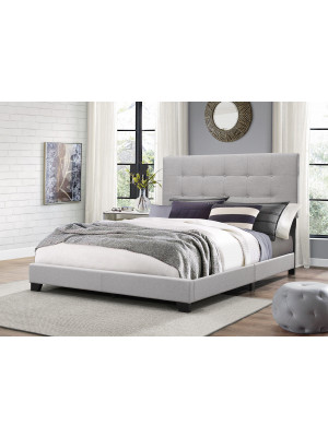 Florence Grey Tufted Full Bed