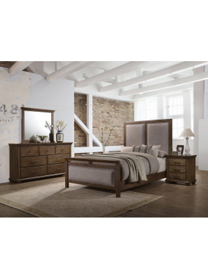 Carlton King Bed, Dresser, Mirror, Nightstand