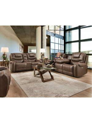 Desert Chocolate Recliner Sofa & Console Loveseat