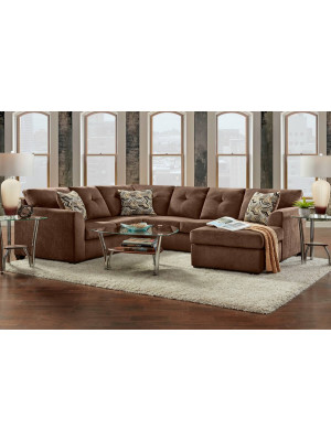 Kelly Chocolate Sectional