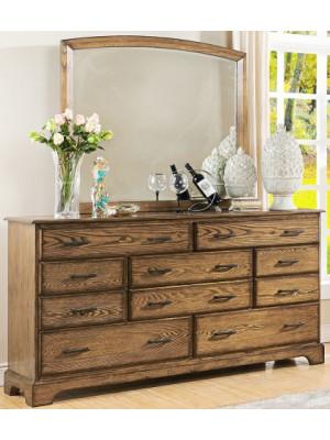 Solana Landscape Cocoa Dresser & Mirror