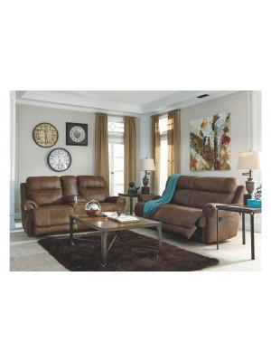Austere Brown Sofa & Loveseat