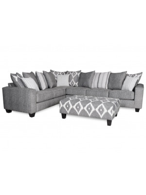 Stonewash Black Sectional