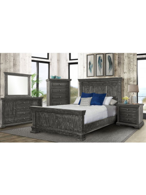 Condesa Grey King Bed, Dresser, Mirror, Nightstand