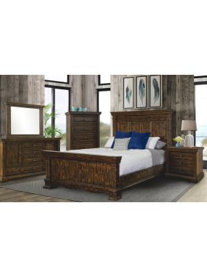 Condesa Brown King Bed, Dresser, Mirror, Nightstand