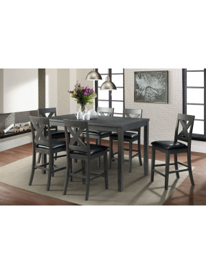 Alex Grey Counter Height Dining Table & 6 Chairs