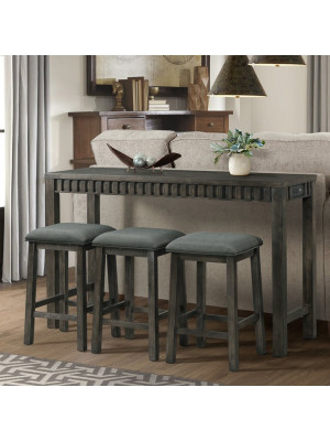 Shelter Bay Bar Table & 3 Barstools